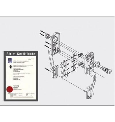 St Guchi Heavy Duty Entrance Handle Gripset Lock SGTH-180