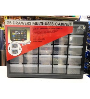 Heavy Duty 25 Multi-Case Drawers Cabinet Tool Box