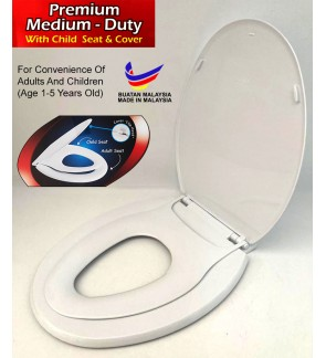 Medium Duty Toilet Seat Cover With Child Seat Cover