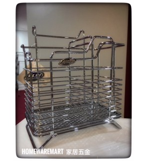 Alcor Spain Dish Rack Utensil Stainless Steel Spoon Basket Storage