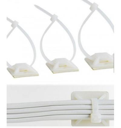 50PCS Cable Tie Base 25MM X 25MM