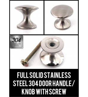 Full Solid Stainless Steel 304  Door Knob With Screw