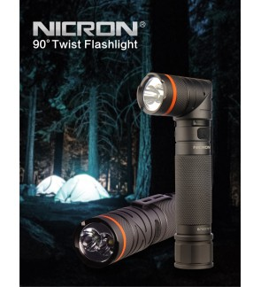 Nicron UV and White LED Rechargable Torch Light/Flashlight