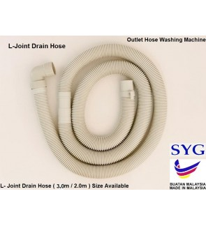 Outlet Washing Machine Paip/Hose L-Shape 2Meter  (Made in Malaysia)