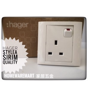 Hager Switch Socket Outlet 13A SIRIM and ISO9001
