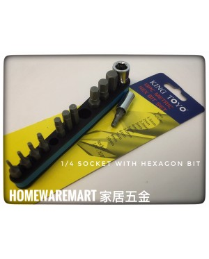 King Toyo SAE Hexagon Hex Screwdriver Bit Set (MM Size)