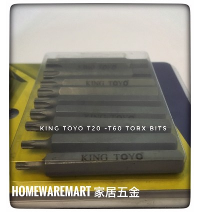 "King Toyo 15pcs Torx Bit Set With 3/8"" Adaptor For Industrial Usage"