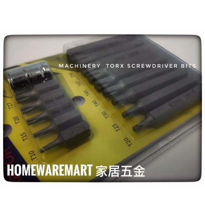 """King Toyo 15pcs Torx Bit Set With 3/8"""" Adaptor For Industrial Usage"""