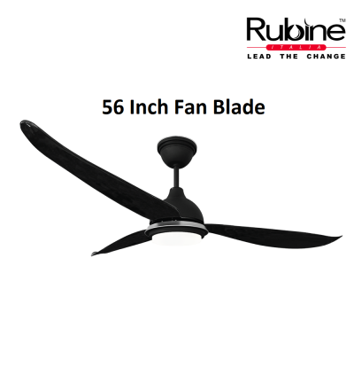 Rubine Elegant Ceiling Ampio Fan With Light 56 Inch