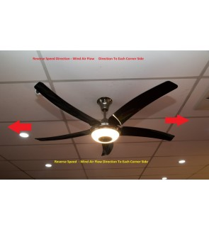 Rubine Elegant Vasto Fan With Light 43 Inch