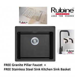 Rubine Grey Granite Sink ​Single Bowl
