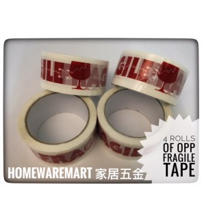 Fragile OPP Tape 48mm X 50Meter 4 Rolls