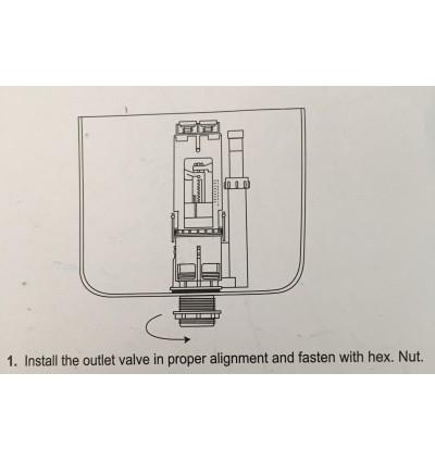 Cistern Toilet Tank Single Push Button 38mm