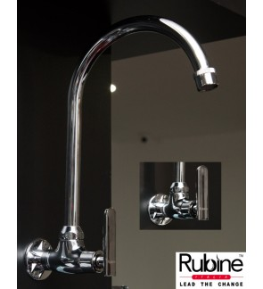 Rubine Wall Mounted Kitchen Waterbibtap Faucet