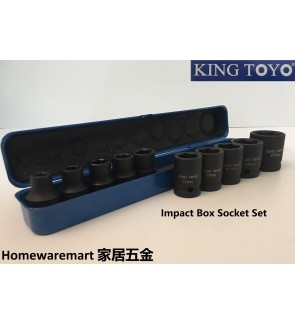 King Toyo 6 Point Black Hardened Impact Box Socket Set For Mechanical , Repairing , Fastening