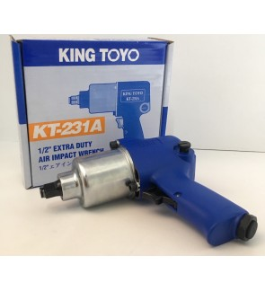 "King Toyo 1/2"" High Torque Twin Hammer Type Air Impact Wrench For Car Repair Box Socket"