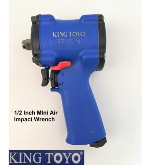 "King Toyo 1/2"" Light Weight Heavy Duty MIni Air Impact Wrench For Car Repair Box Socket"
