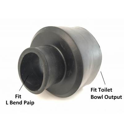 Toilet WC Black Rubber Cone For Lower Level Cistern Paip