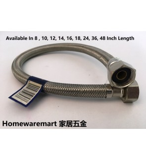 Stainless Steel Flexible Hose For Water Heater , Basin Bibtap , And Toilet Cistern Tank , Kitchen Bibtap