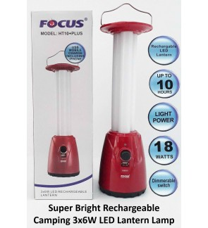 Super Bright Rechargeable Camping 3x6W LED Lantern Lamp For Outdoor, Fire Camping, Office, House