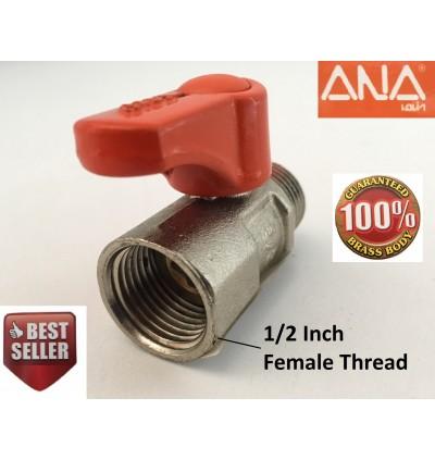 1/2Inch Male Female ANA Brass Ball Valve For Flexible Hose