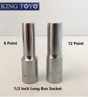 King Toyo 6 Point Or 12 Point Long Box Socket For Mechanical , Repairing , Fastening