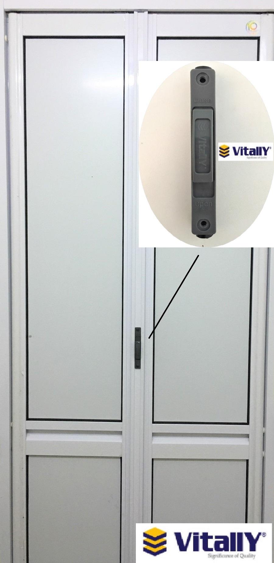 Vitally Folding Door Lock Handle For Bi Fold Door