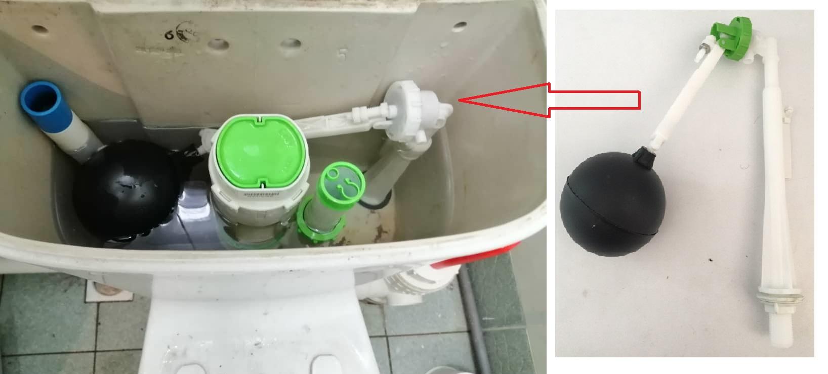 Toilet Cistern Side Inlet Float Valve