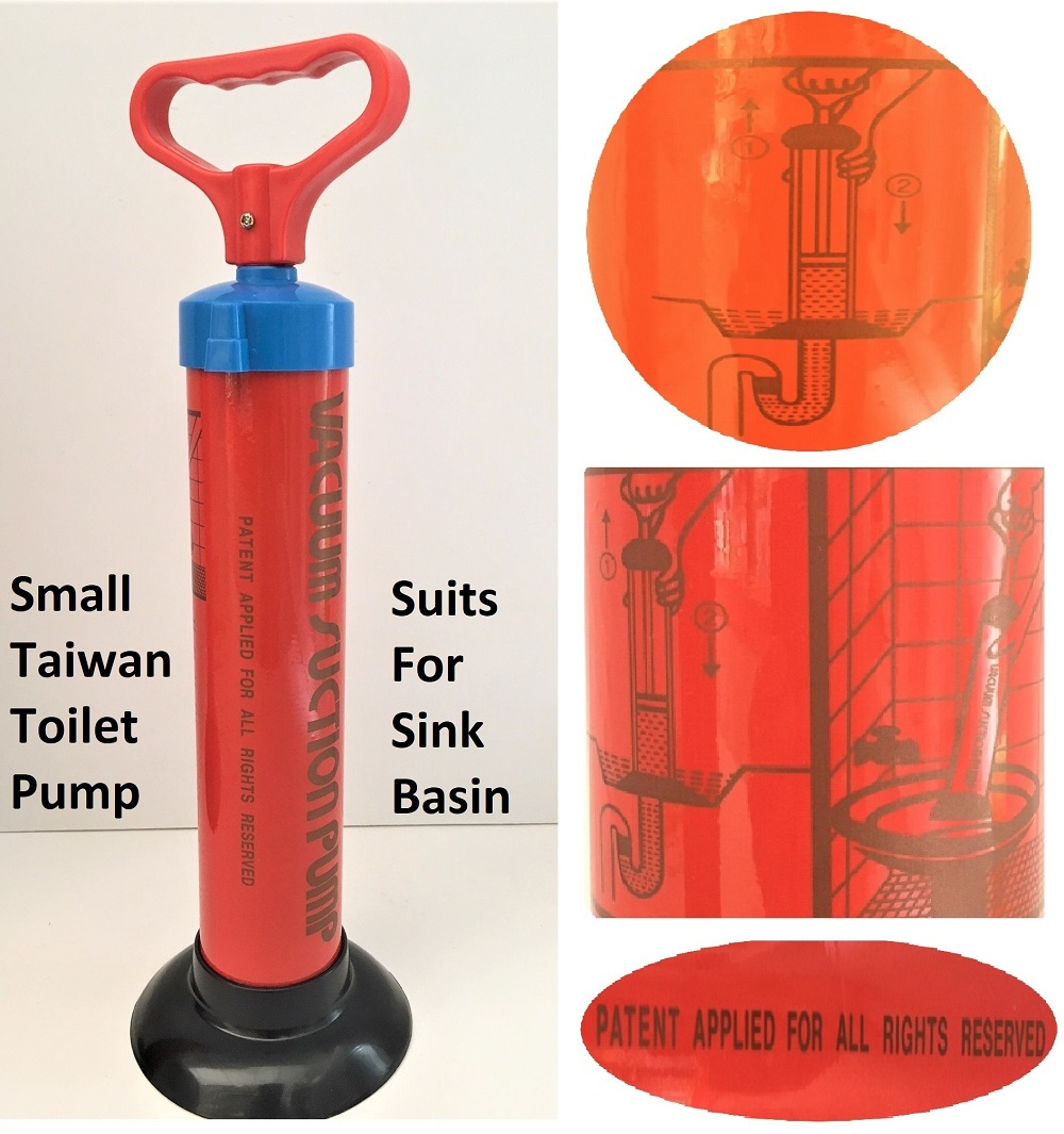 Taiwan Toilet Suction Pump For Clog Drainage In Sink Toilet Bowl Basin And Floor Grating