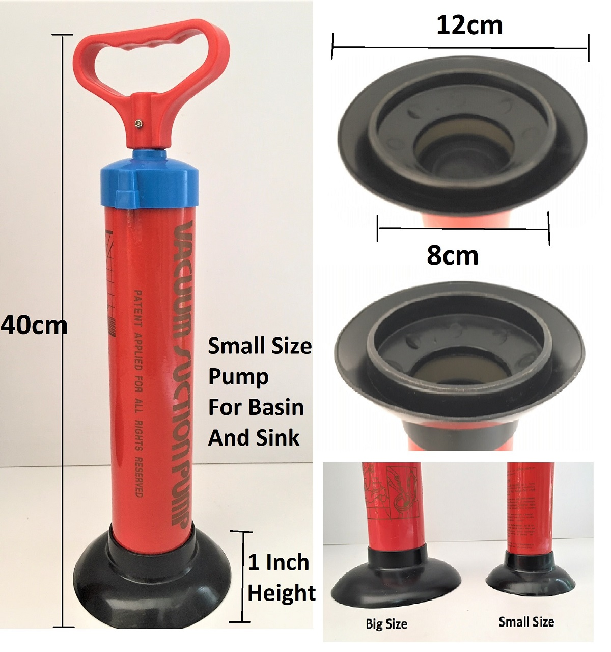 Taiwan Toilet Suction Pump For Clog drainage In Sink ,Toilet Bowl,Basin And Floor Grating