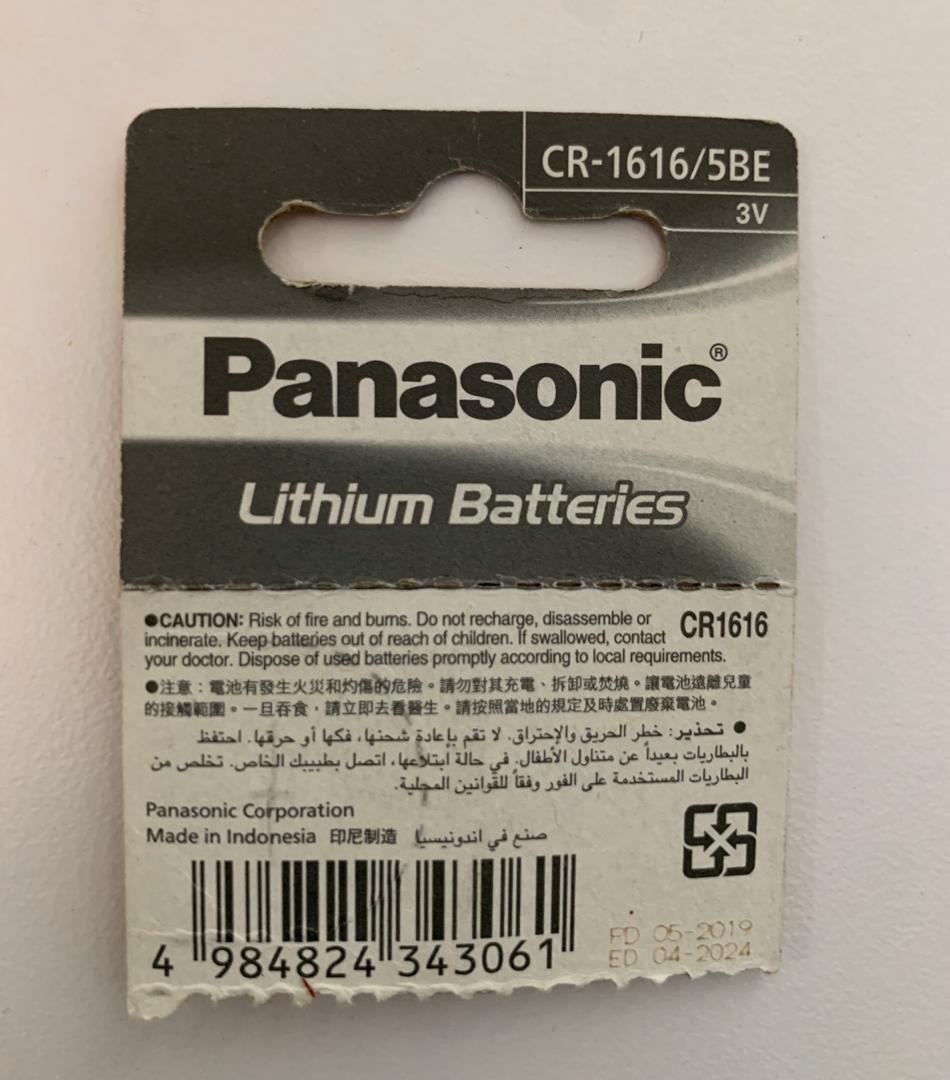 CR1616 Panasonic Lithium Battery