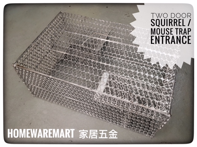 Squirrel/Mouse Trap Cage with Two Entrance Hole