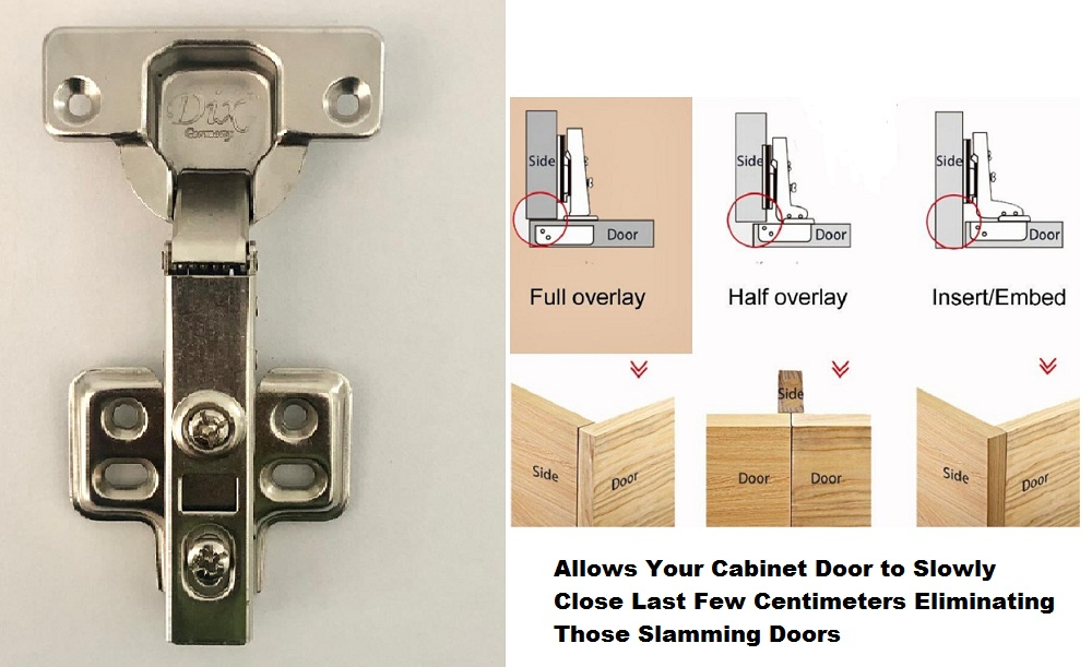Super Heavy Duty Kitchen Cabinet Hydraulic Soft Close Hinges